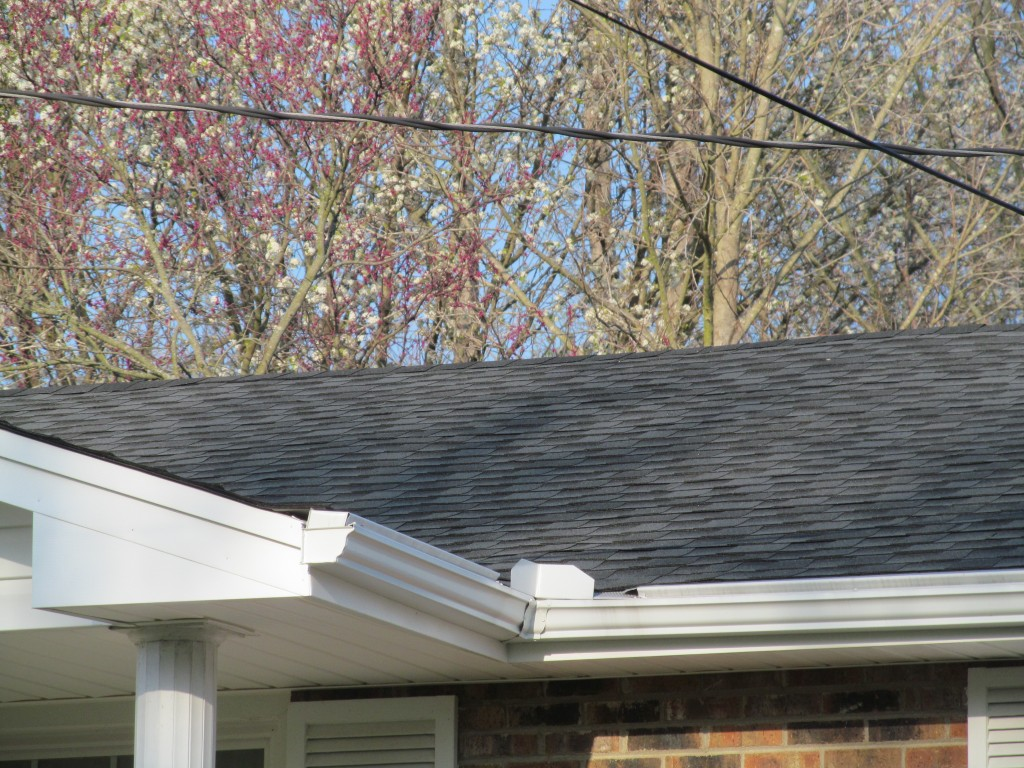 New shingles, gutters, and vinyl siding completed